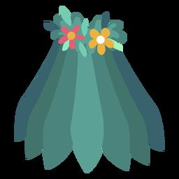 Falda flor plana