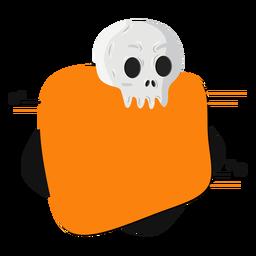 Skull badge sticker