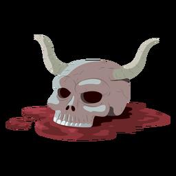 Ilustração de sangue de chifre de caveira