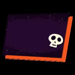 Skull sticker badge