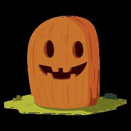 Smile pumpkin illustration