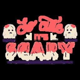 So cute it's scary sticker badge