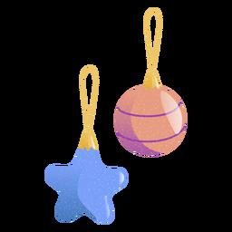 Ilustração de brinquedo bola estrela