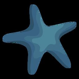 Estrella estrella de mar plana