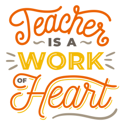 El profesor es un trabajo de la insignia del corazón