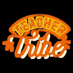 Adesivo de tribo de professor
