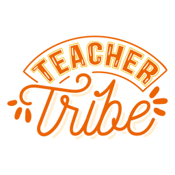 Teacher tribe badge sticker