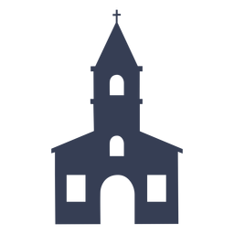 Catedral de templo igreja detalhada silhueta