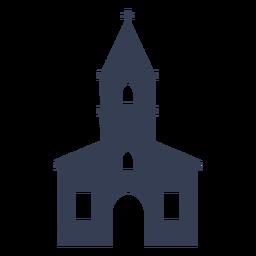 Templo catedral iglesia detallada silueta