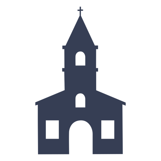Temple cathedral church detailed silhouette Transparent PNG