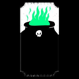 Boleto de fuego de cobre llama plana