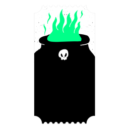 Ticket Kupfer Feuer Flamme flach