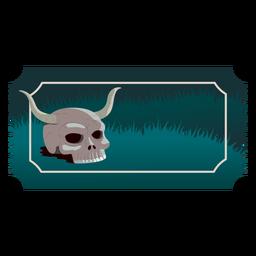 Crânio de chifre de bilhete liso