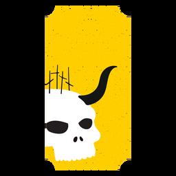 Boleto cráneo cuerno plano