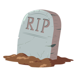Tombstone rip illustration