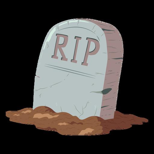 Ilustración de rasgadura de lápida
