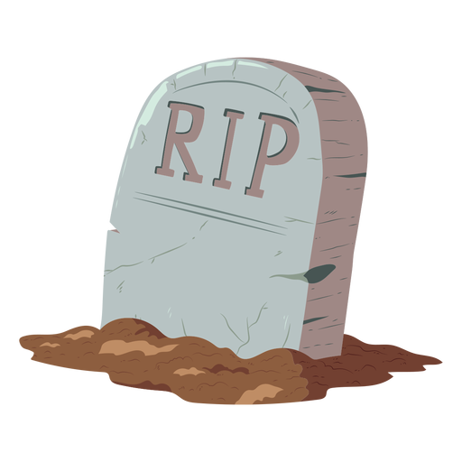 Tombstone rip illustration