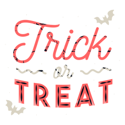 Trick or treat badge sticker