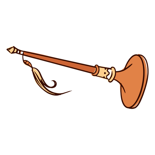 Trumpet pipe flat Transparent PNG