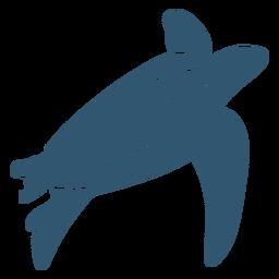 Concha de tortuga detallada silueta animal