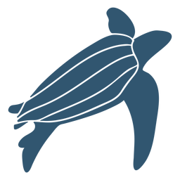 Turtle shell detailed silhouette animal