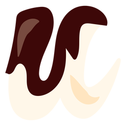 U u Brief Schokolade flach