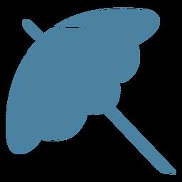 Sombrilla sombrilla silueta detallada