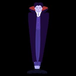 Capa de vampiro plana