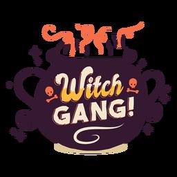 Distintivo de etiqueta de gangue de bruxa