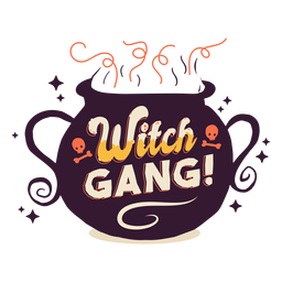 Witch gang sticker badge