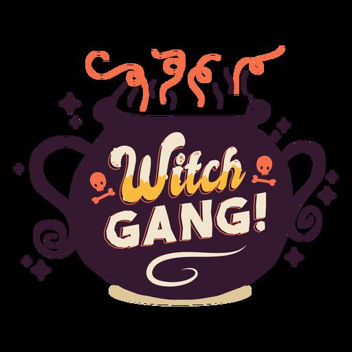 Insignia de la etiqueta de la banda de brujas