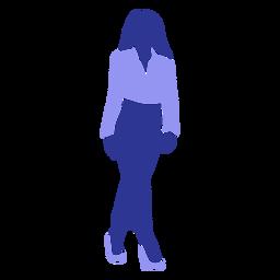 Silhueta detalhada de blusa de mulher