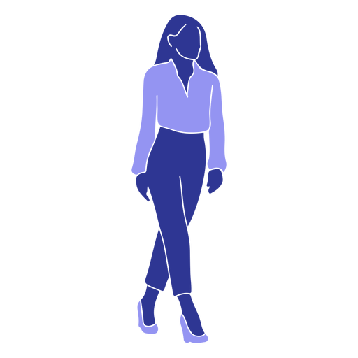 Woman blouse detailed silhouette Transparent PNG