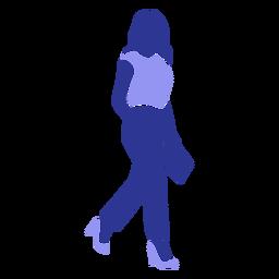 Pasta blusa mulher detalhada silhueta