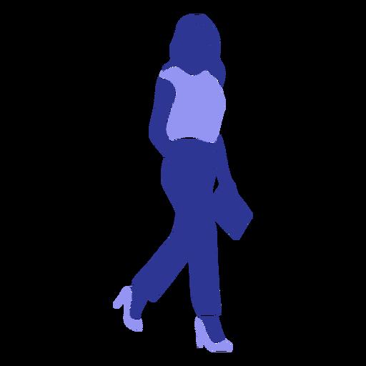 Mujer blusa carpeta silueta detallada
