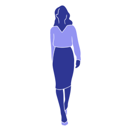 Blusa mujer falda silueta detallada