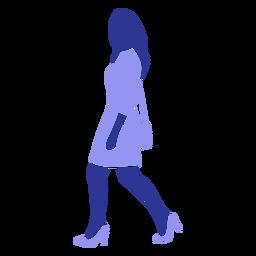 Silhueta detalhada de saco de vestido de mulher