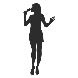 Woman girl glass silhouette