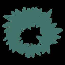 Corona detallada silueta