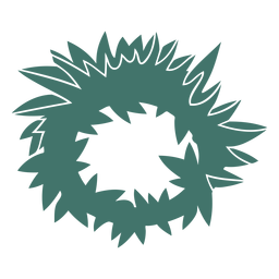 Wreath detailed silhouette
