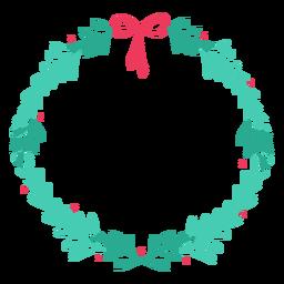 Etiqueta engomada de la insignia de rama de arco de marco de corona