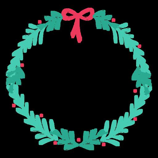 Adesivo de distintivo de ramo de arco de quadro de grinalda Transparent PNG