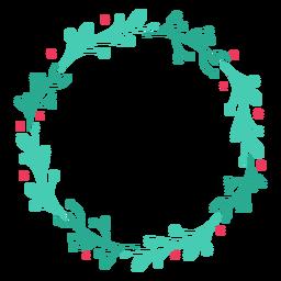 Wreath frame branch badge sticker