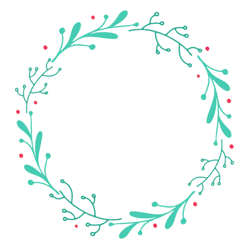 Wreath frame branch badge sticker Transparent PNG