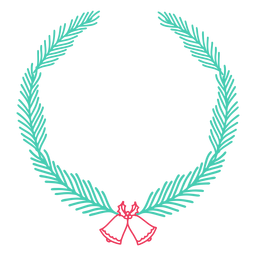 Wreath frame branch bell badge sticker