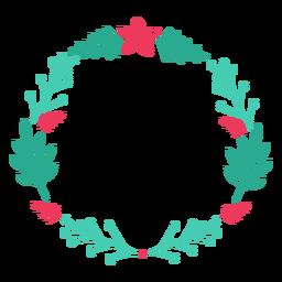 Adesivo de distintivo de flor de ramo de quadro de grinalda