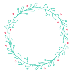 Adesivo de distintivo de folha de ramo de quadro de grinalda