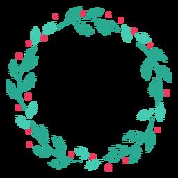 Etiqueta engomada de la insignia de rama de hoja de marco de guirnalda