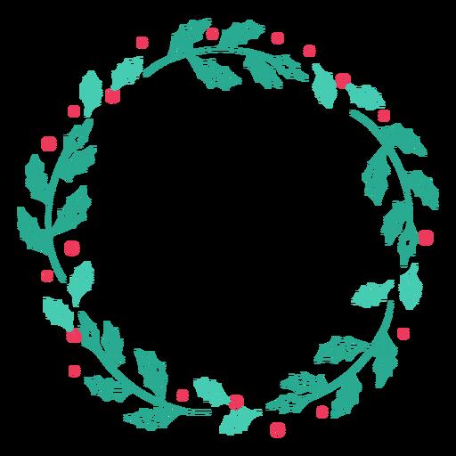 Wreath frame leaf branch badge sticker Transparent PNG