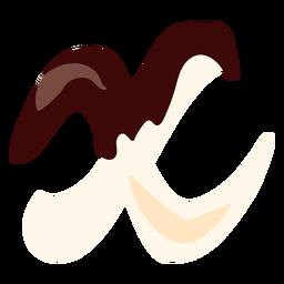 X x carta de chocolate liso